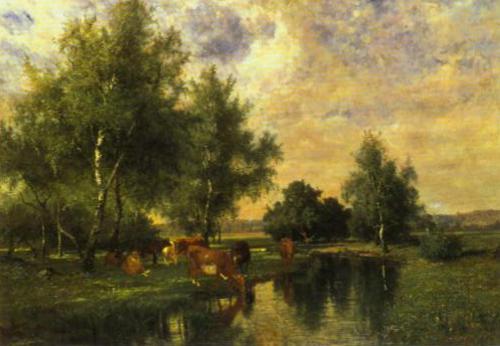 Summer Landscape 1877 | Edvard Bergh | Oil Painting