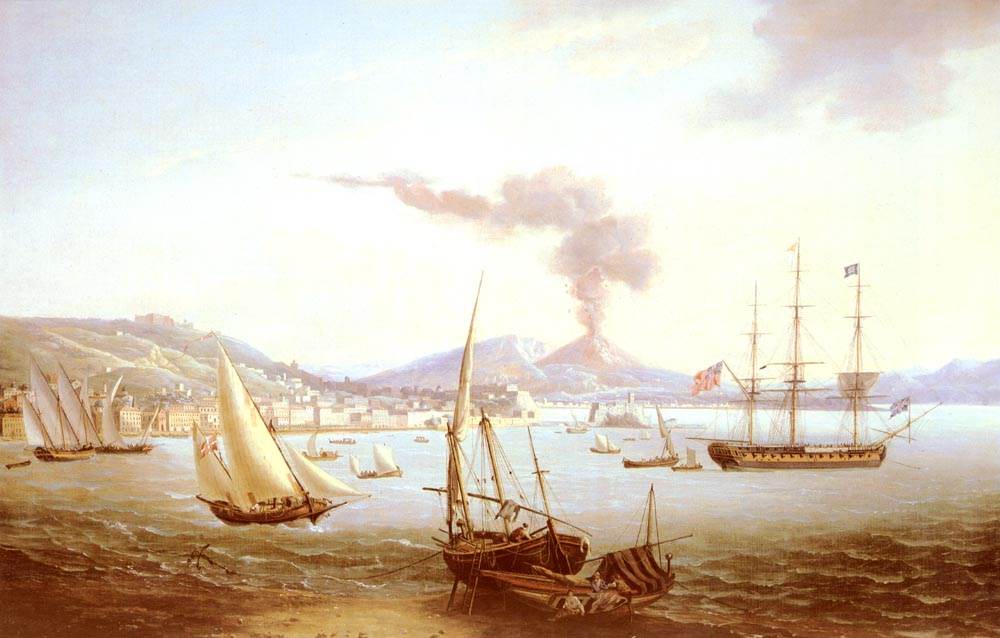 An English Frigate In The Bay Of Naples | John Thomas Serres | Oil Painting