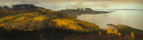 Autumn Landscape from Pielisjarvi 1899 | Eero Jarnefelt | Oil Painting