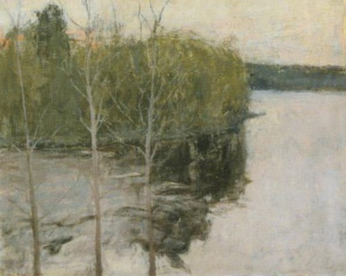Spring Night at Murole 1894 | Ellen Thesleff | Oil Painting