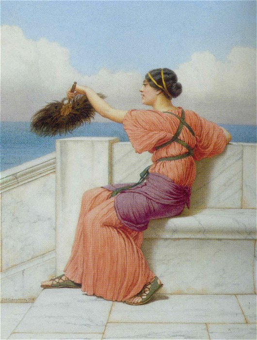 A Fond Farewell 1918 | John William Godward | Oil Painting