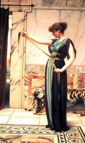 A Pompeian Lady 1891 | John William Godward | Oil Painting