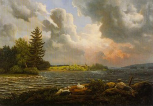 Storm over Haminanlaks 1857 | Ferdinand von Wright | Oil Painting