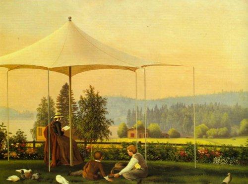 The Garden at Haminanlaks 1856 7 | Ferdinand von Wright | Oil Painting