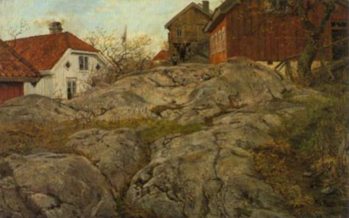 Rocks At Kragero 1882 | Frits Thaulow | Oil Painting