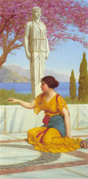 Ancient Pastimes 1916 | John William Godward | Oil Painting