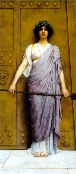 At The Gate Of The Temple 1898 | John William Godward | Oil Painting