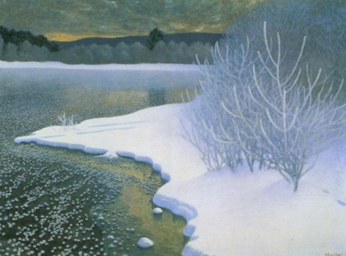 Hoar Frost on Ice 1901 | Gustaf Fjaestad | Oil Painting