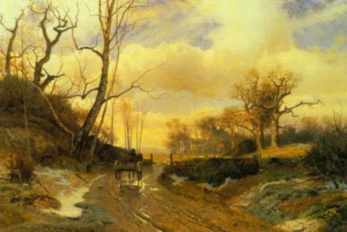 Spring Landscape in Skania 1868 | Gustaf Rydberg | Oil Painting