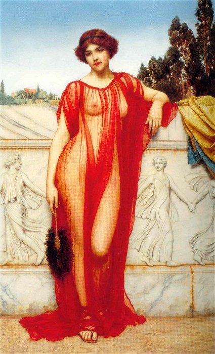 Athenais 1908 | John William Godward | Oil Painting