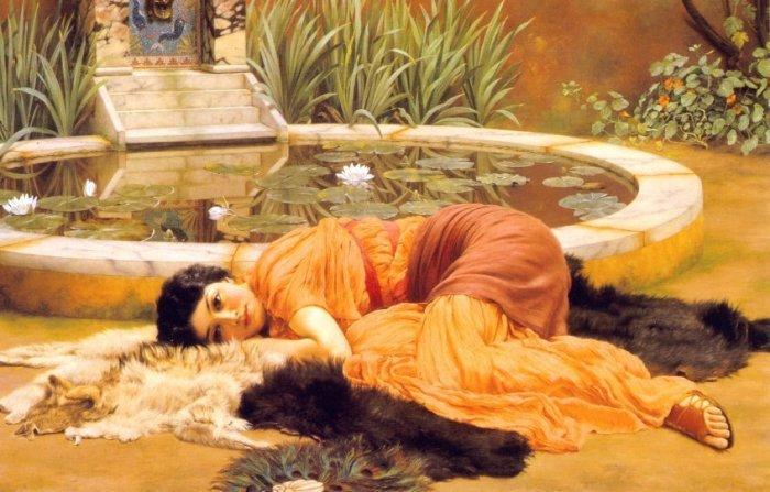 Dolce Far Niente 1904   John William Godward   Oil Painting