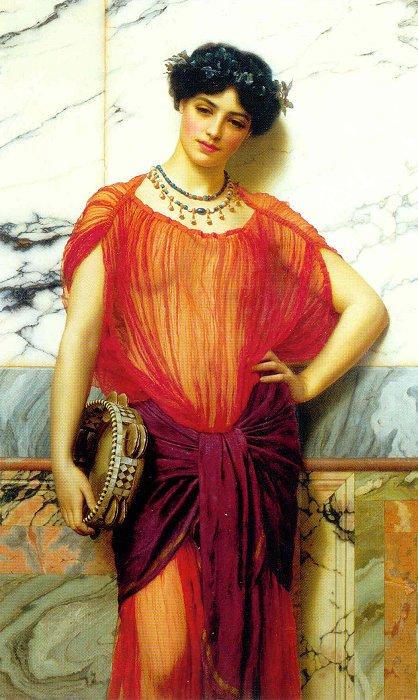Drusilla 1906   John William Godward   Oil Painting