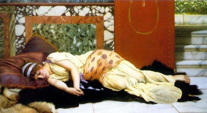 Endymion 1893   John William Godward   Oil Painting