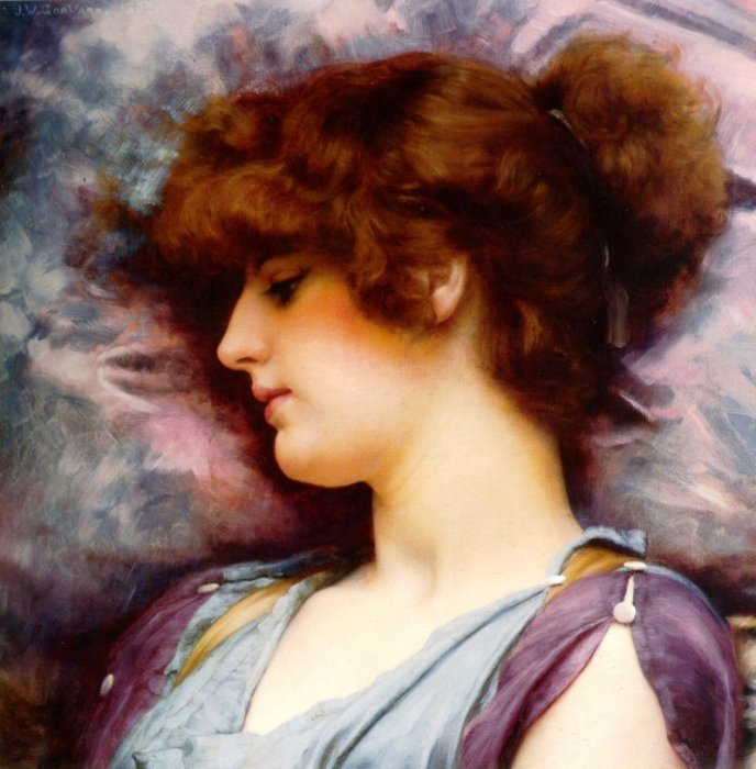 Far Away Thoughts 1892 | John William Godward | Oil Painting