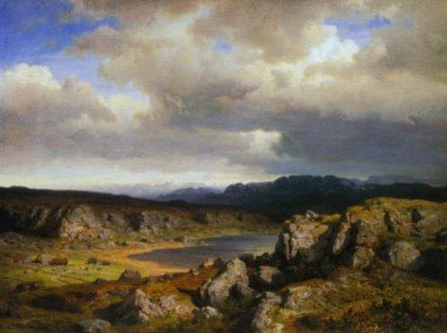 Hojfjell 1857 | Hans Gude | Oil Painting