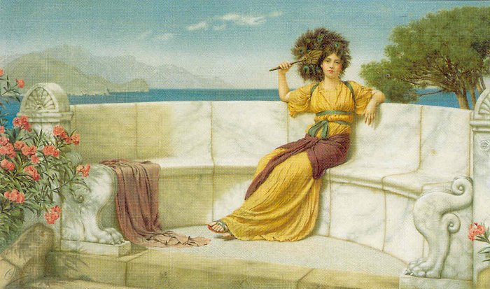 In The Prime Of The Summer Time 1915 | John William Godward | Oil Painting