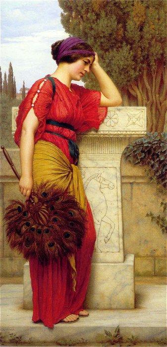 La Pensierosa 1913   John William Godward   Oil Painting