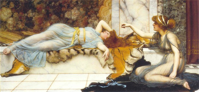 Mischief And Repose 1895 | John William Godward | Oil Painting