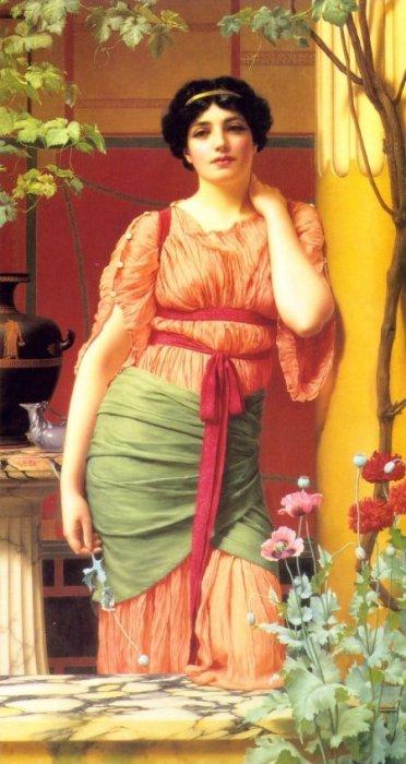Nerissa 1906   John William Godward   Oil Painting