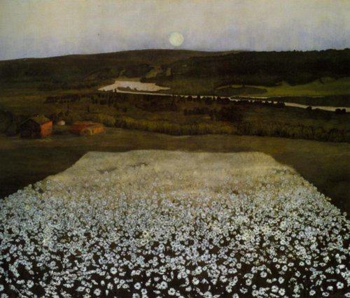 A Flowery Meadow in the North 1905 | Herald Sohlberg | Oil Painting