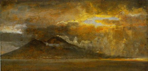 Storm over the Bay of Naples 15 January | J.C.Dahl | Oil Painting