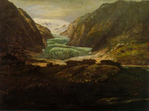 View of Jostedalsbreen 1844 | J.C.Dahl | Oil Painting