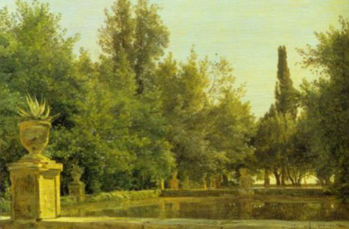 From the Park of Villa d'Este 1874 | Janus La Cour | Oil Painting