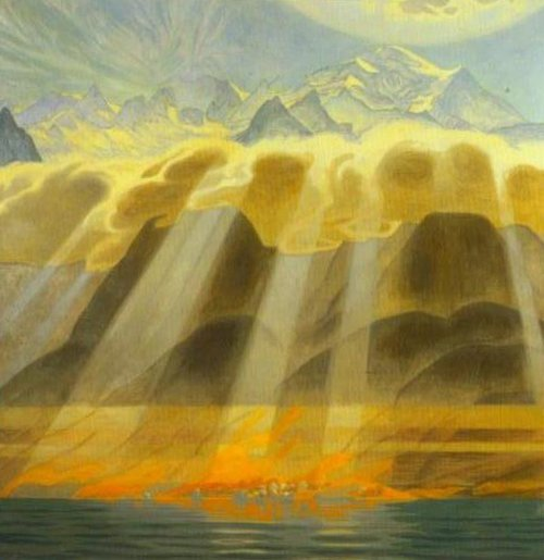 Sun over the Mountains of the South 1902 | Jens Ferdinand Willumsen | Oil Painting