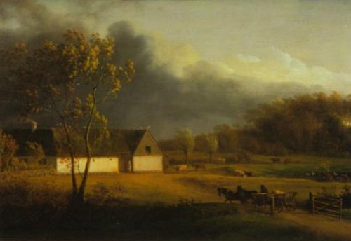 A Storm brewing behind a Farmhouse in Zealand 1793 | Jens Juel | Oil Painting
