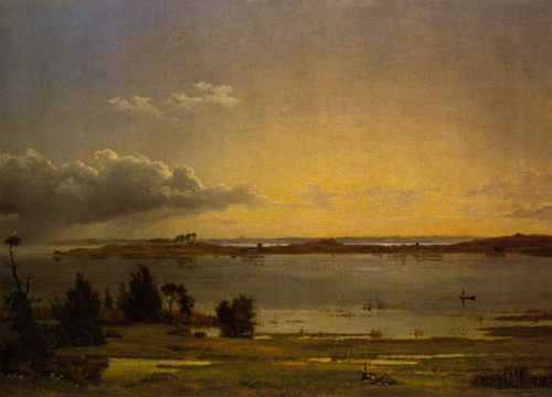 Landscape from Lake Arre 1838 | Johan Thomas Lundbye | Oil Painting