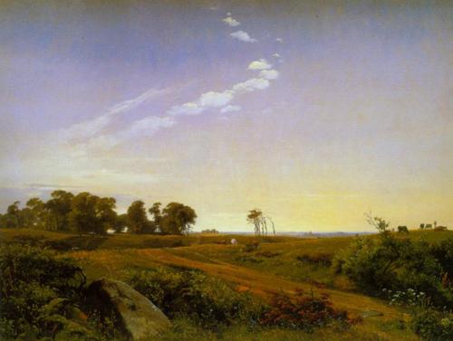 Landscape from Zealand 1842 | Johan Thomas Lundbye | Oil Painting