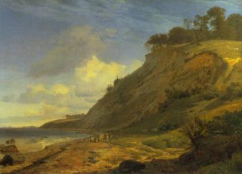 A Danish Coast 1842 3   Johan Thomas Lundbye   Oil Painting