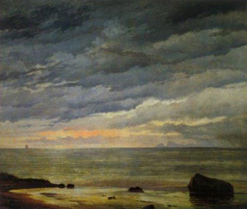 Sunrise over the Sea 1838 | Johan Thomas Lundbye | Oil Painting
