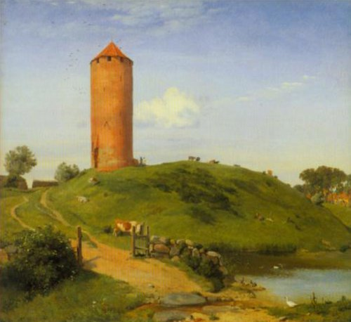The Goose Tower at Vordingborg 1842 | Johan Thomas Lundbye | Oil Painting