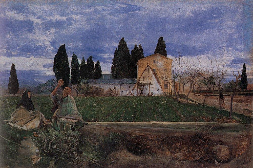 Springtime in Spain Near Gordella   John William Inchbold   Oil Painting