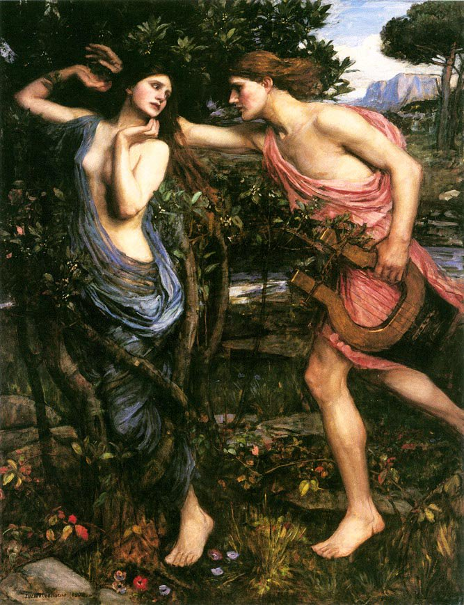 Apollo And Daphne | John William Waterhouse | Oil Painting