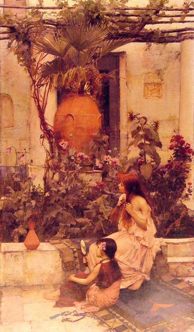 At Capri | John William Waterhouse | Oil Painting