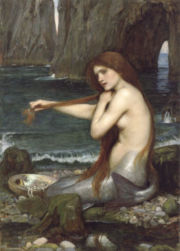 A Mermaid | John William Waterhouse | Oil Painting