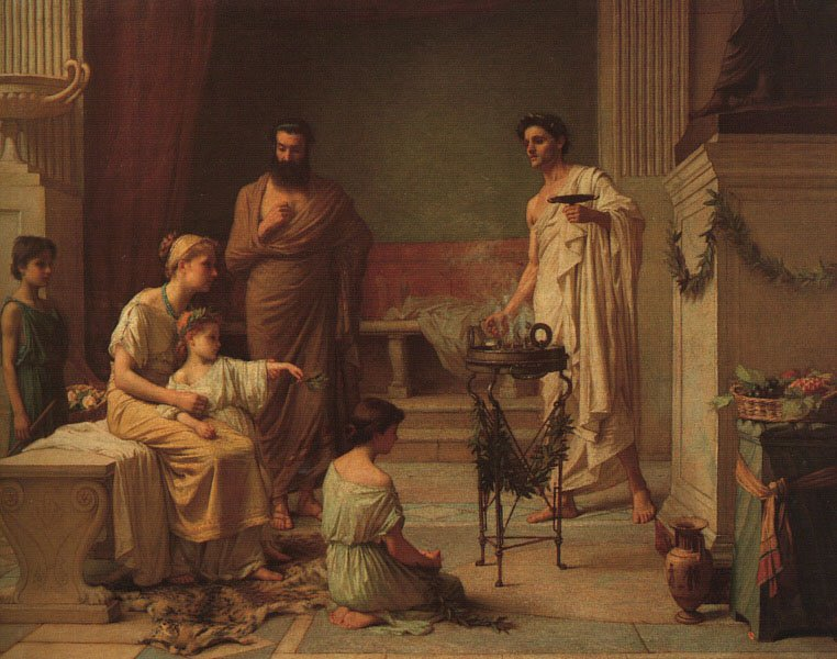A Sick Child Brought Into The Temple Of Aesculapius | John William Waterhouse | Oil Painting