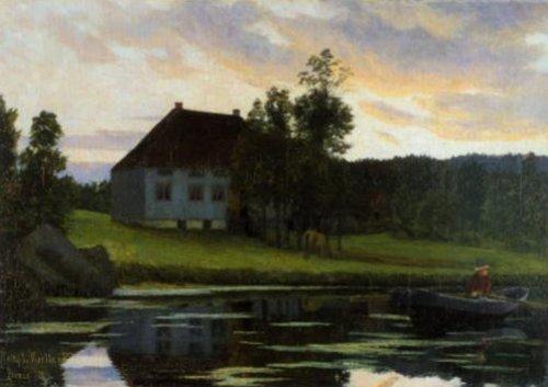 After Sunnet 11 1886 | Kitty Kielland | Oil Painting