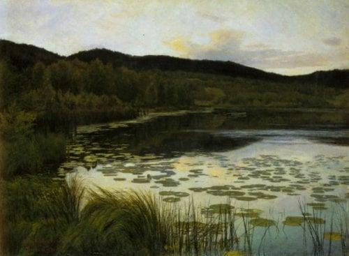 Summer Night 1886 | Kitty Kielland | Oil Painting