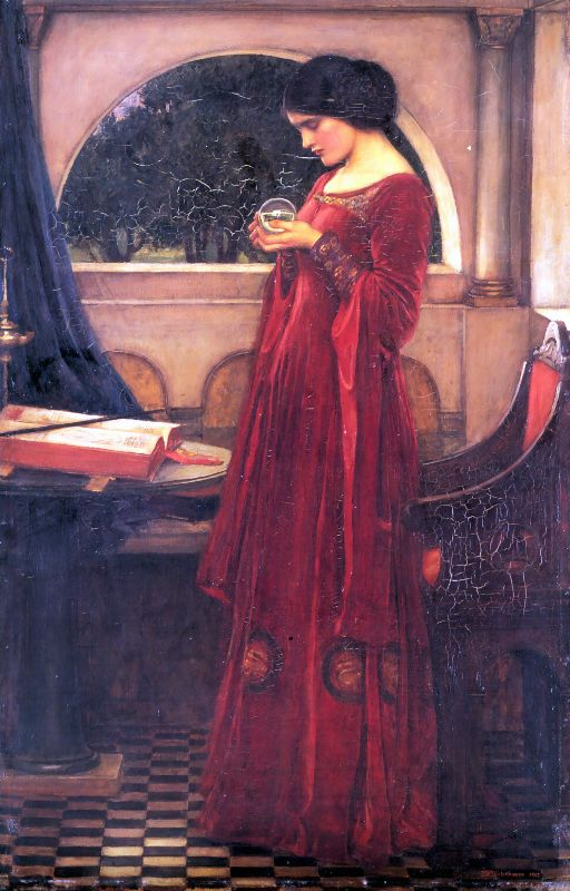 Crystal Ball | John William Waterhouse | Oil Painting
