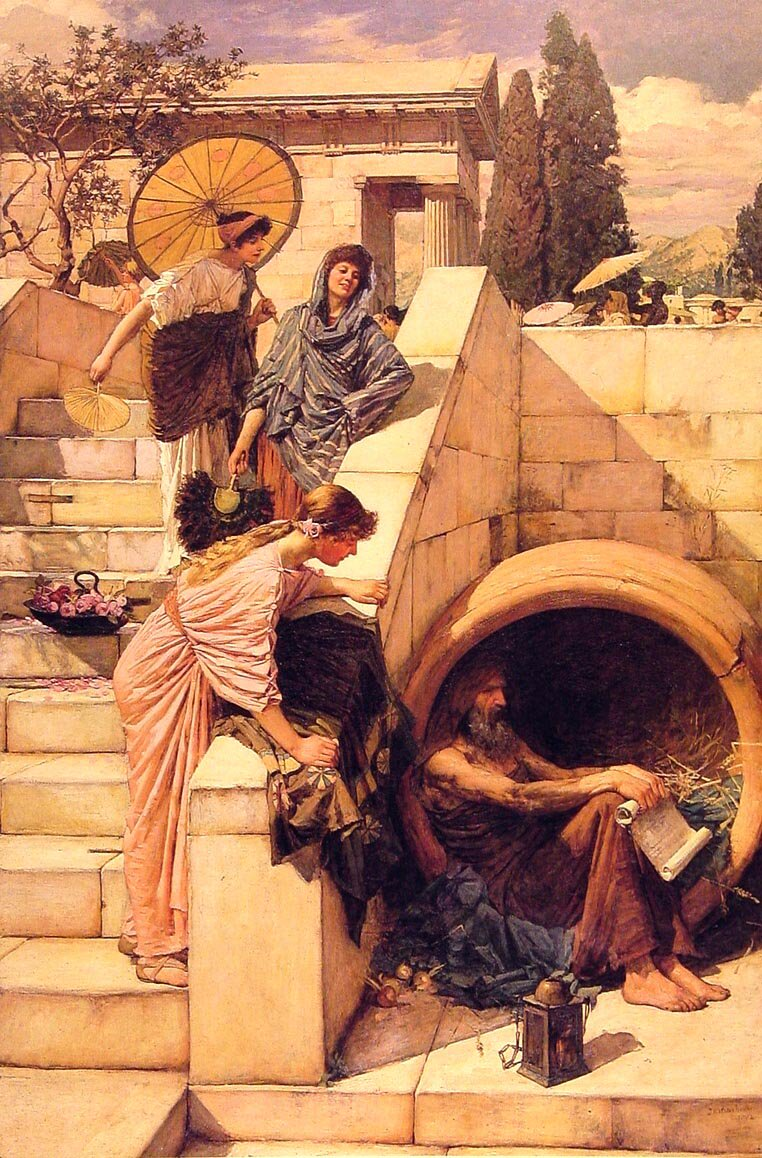 Diogenes | John William Waterhouse | Oil Painting