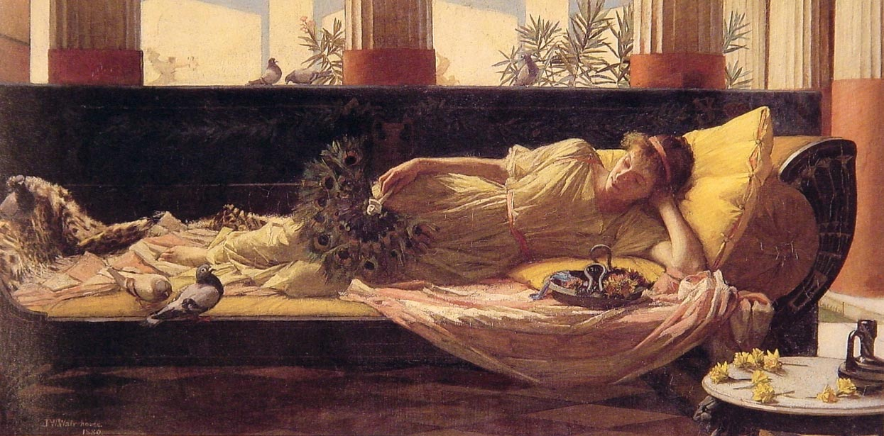 Dolce Far Niente | John William Waterhouse | Oil Painting