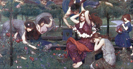 Flora And The Zephyrs | John William Waterhouse | Oil Painting