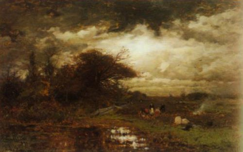 Late Autumn Afternoon 1882 | Ludvig Munthe | Oil Painting