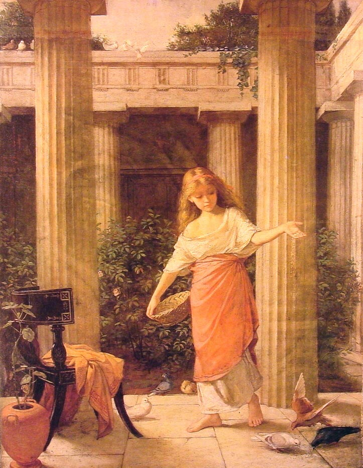 In The Peristyle | John William Waterhouse | Oil Painting