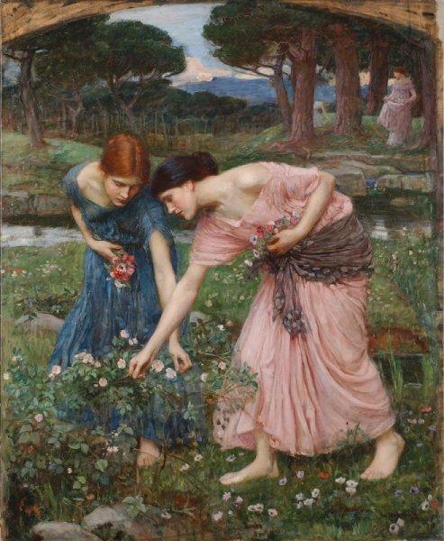John Gather Ye Rosebuds While Ye May 1909 | John William Waterhouse | Oil Painting