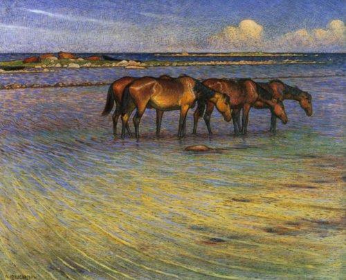 Horses keeping Cool 1902 | Nils Kreuger | Oil Painting