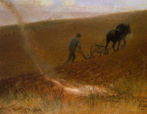 Spring Ploughing 1884 | Nils Kreuger | Oil Painting
